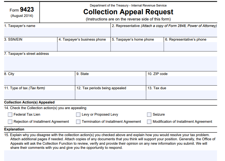 How To Appeal An Irs Installment Agreement Tax Resolution